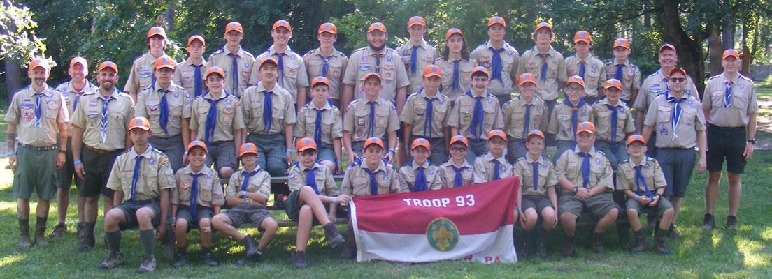 Troop 93 at Camp Horseshoe BSA 2021
